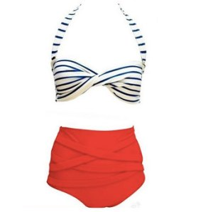 High waist sailor bikini