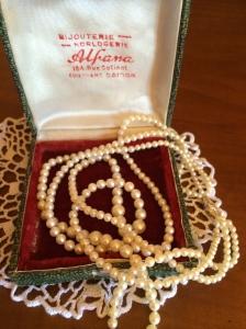 collier, perles, pearls, perle, vintage