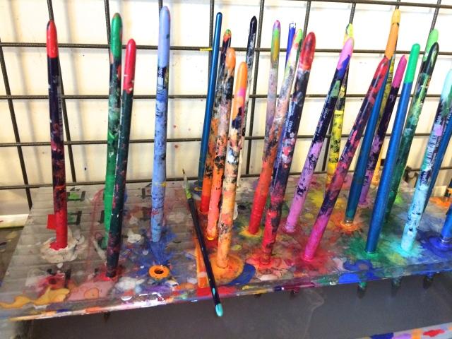 Atelier, Claudio Diatto, artista, peinture, papier, couleurs, colore