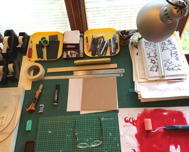 Claudio Diatto, atelier, artista, colore